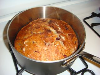 Cranberry-Flax No Knead Bread