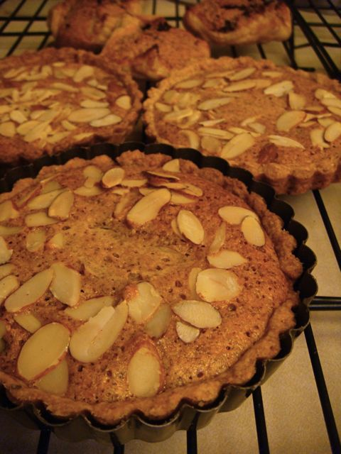 Rasberry Almond Tart & Chocolate Almond Purses